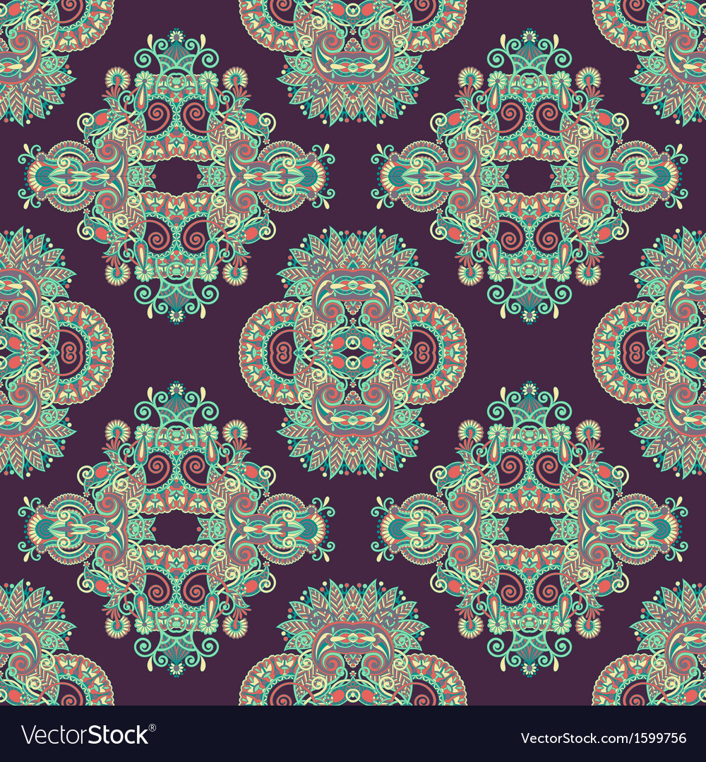 Geometry paisley vintage floral seamless pattern vector | Price: 1 Credit (USD $1)