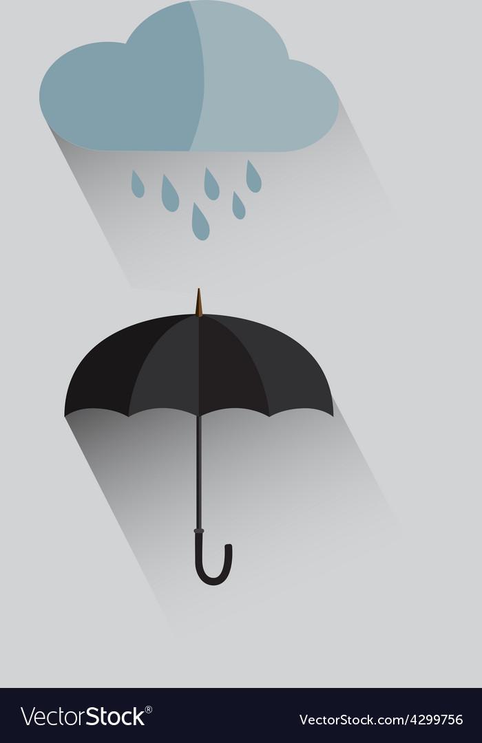 Umbrella and rain flat icon vector | Price: 1 Credit (USD $1)