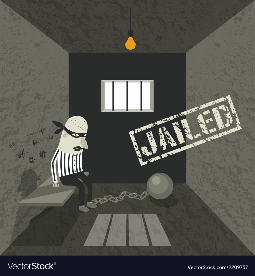 Arrested and jailed vector | Price: 1 Credit (USD $1)