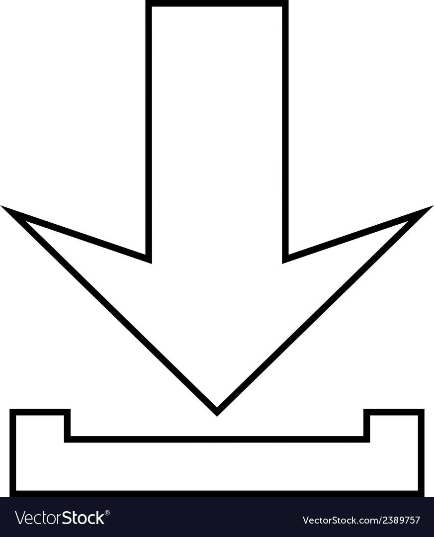 Arrow icon download vector   Price: 1 Credit (USD $1)