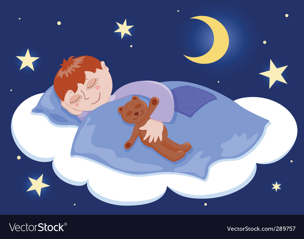 Boy sleeps vector | Price: 3 Credit (USD $3)
