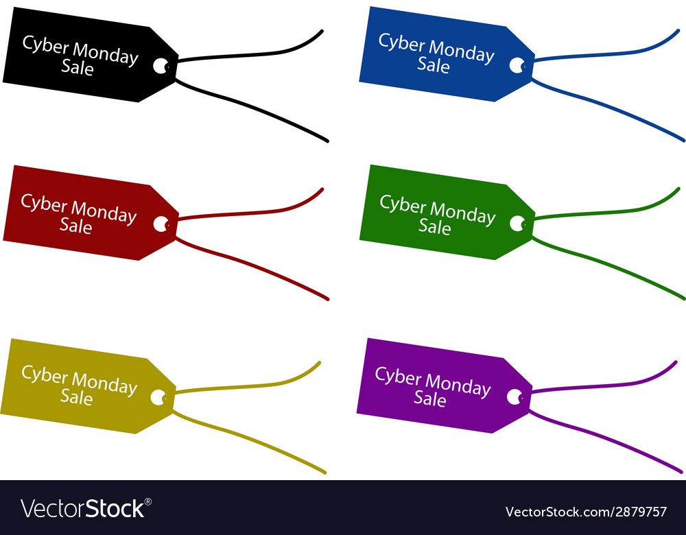 Cyber monday price tag for christmas shopping vector | Price: 1 Credit (USD $1)