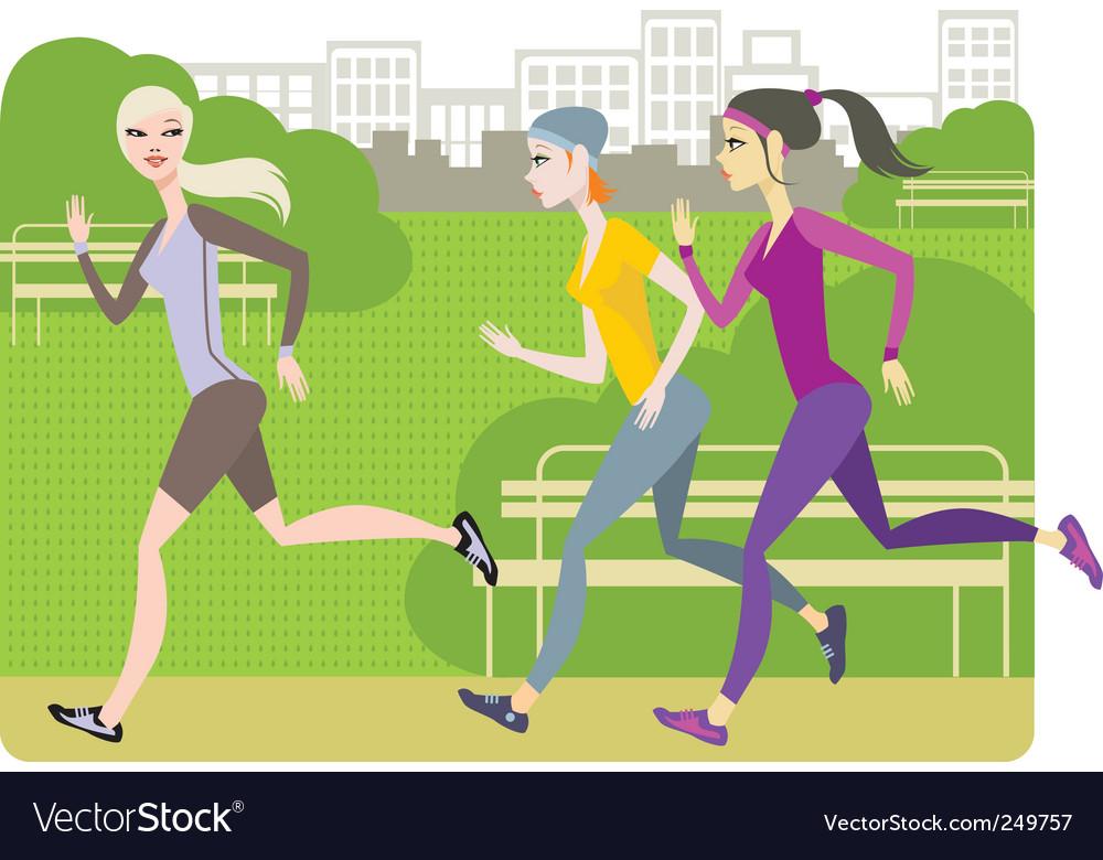 Girls jogging vector   Price: 3 Credit (USD $3)