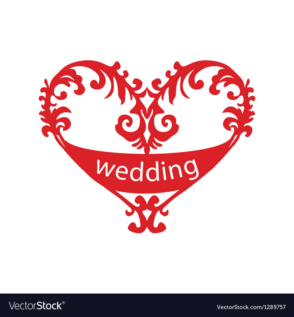 Heart for wedding vector | Price: 1 Credit (USD $1)
