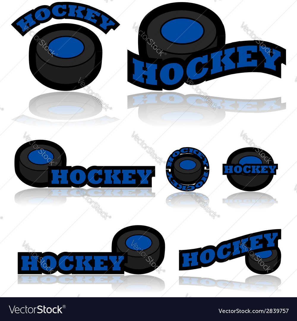 Hockey icons vector | Price: 1 Credit (USD $1)
