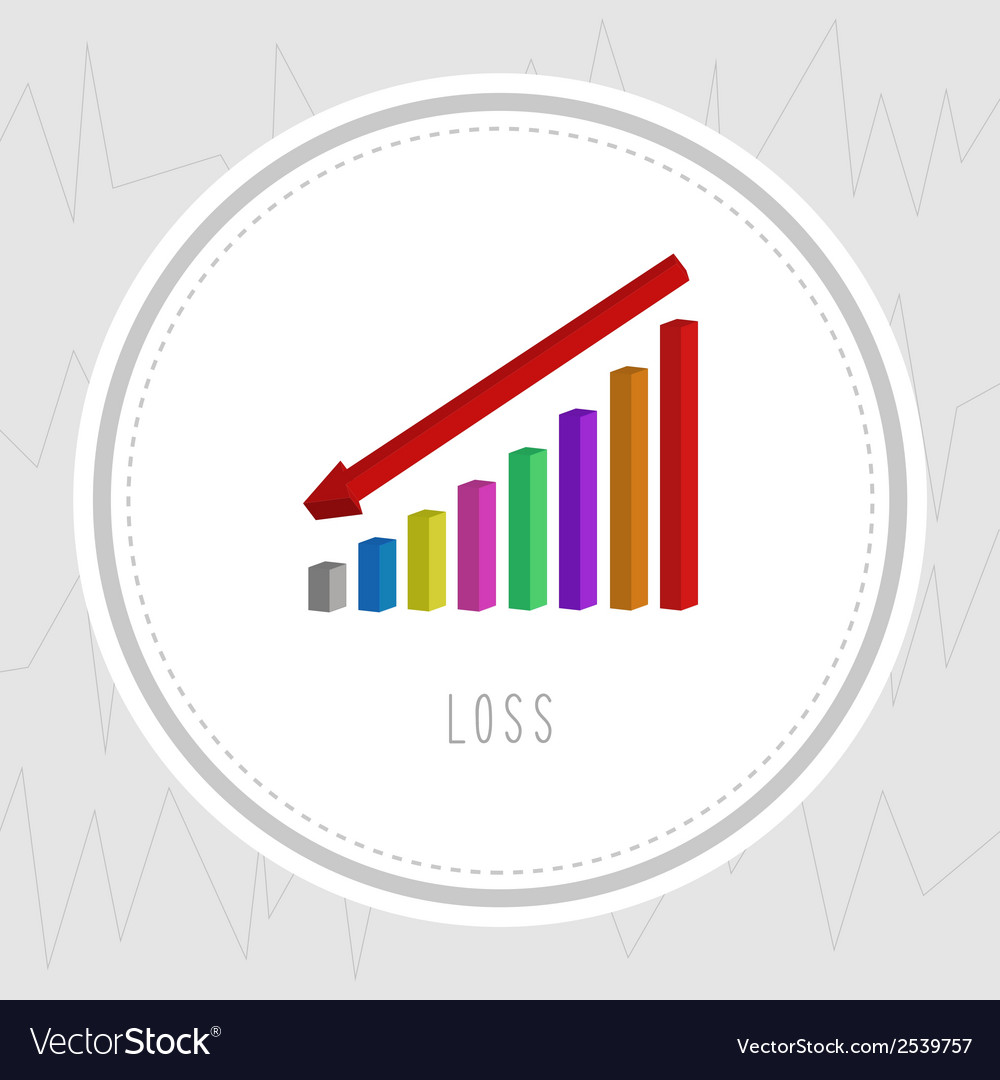Loss chart2 vector | Price: 1 Credit (USD $1)