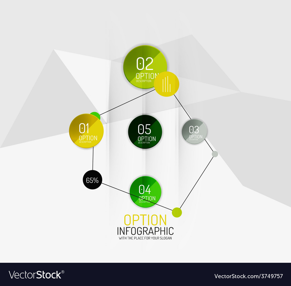 Modern abstract business geometric infographics vector | Price: 1 Credit (USD $1)