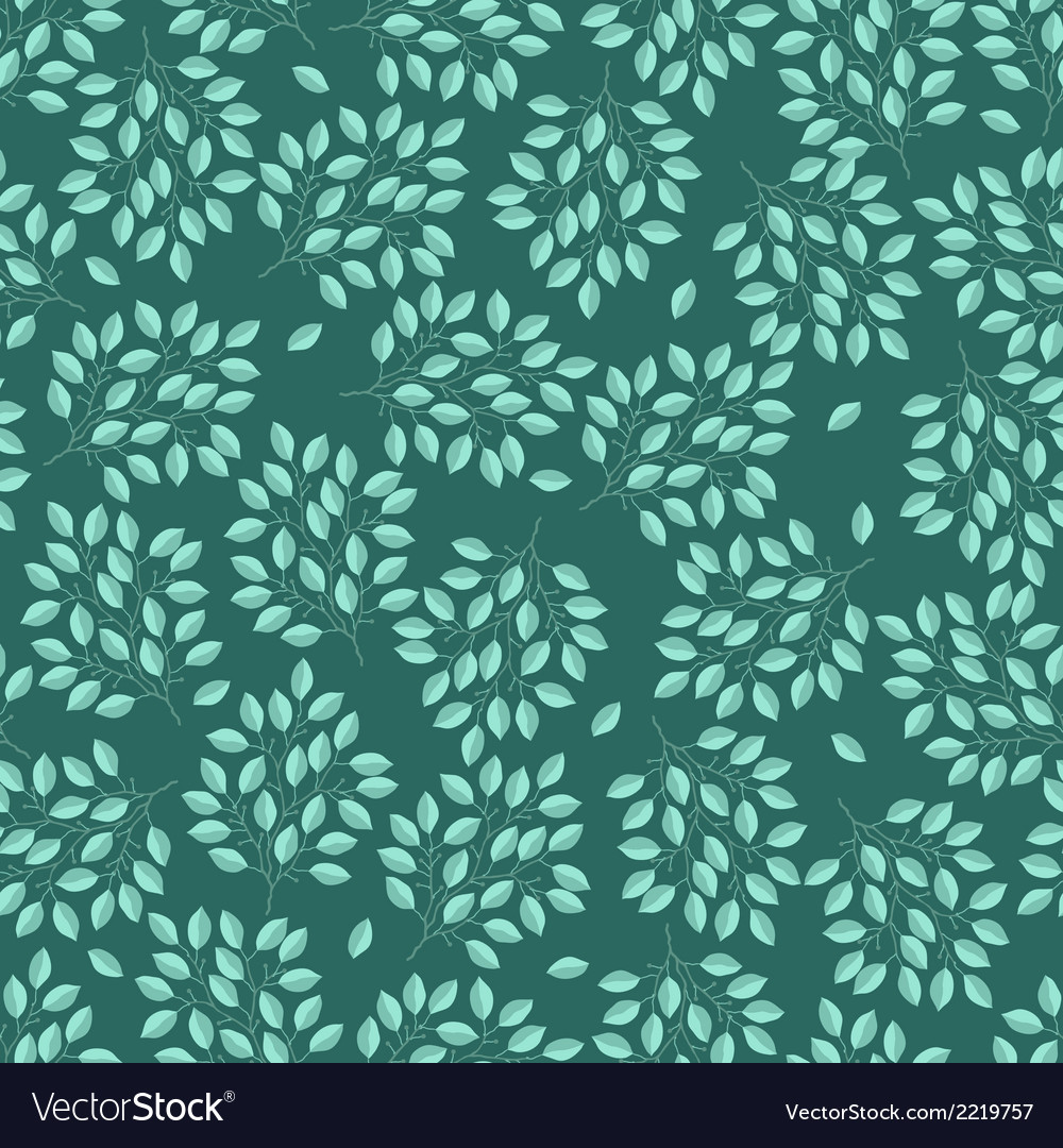 Natural seamless pattern with branches of leaves vector | Price: 1 Credit (USD $1)