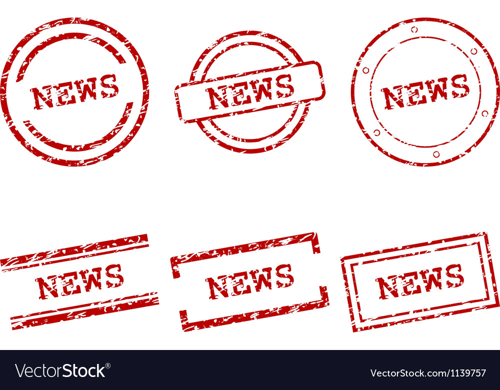 News stamps vector | Price: 1 Credit (USD $1)