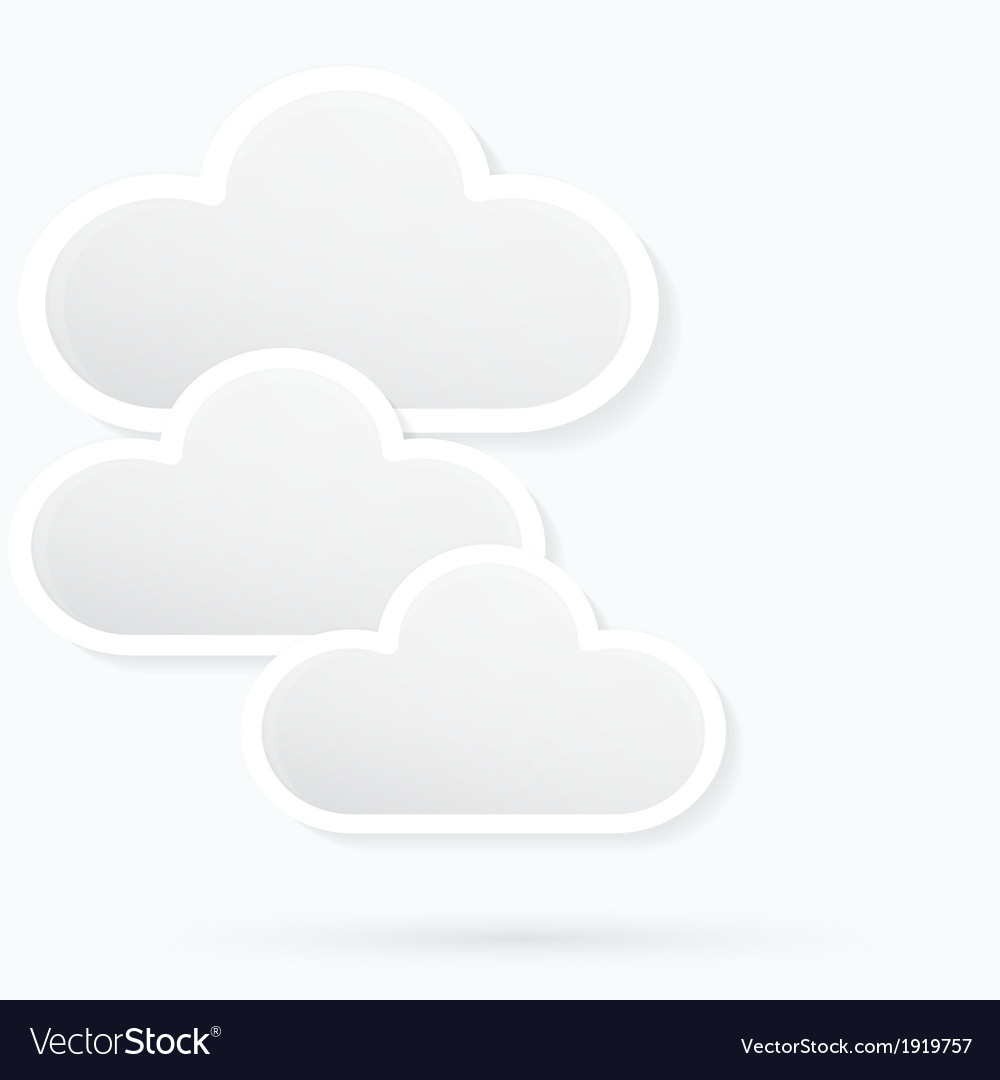 Paper clouds background vector | Price: 1 Credit (USD $1)