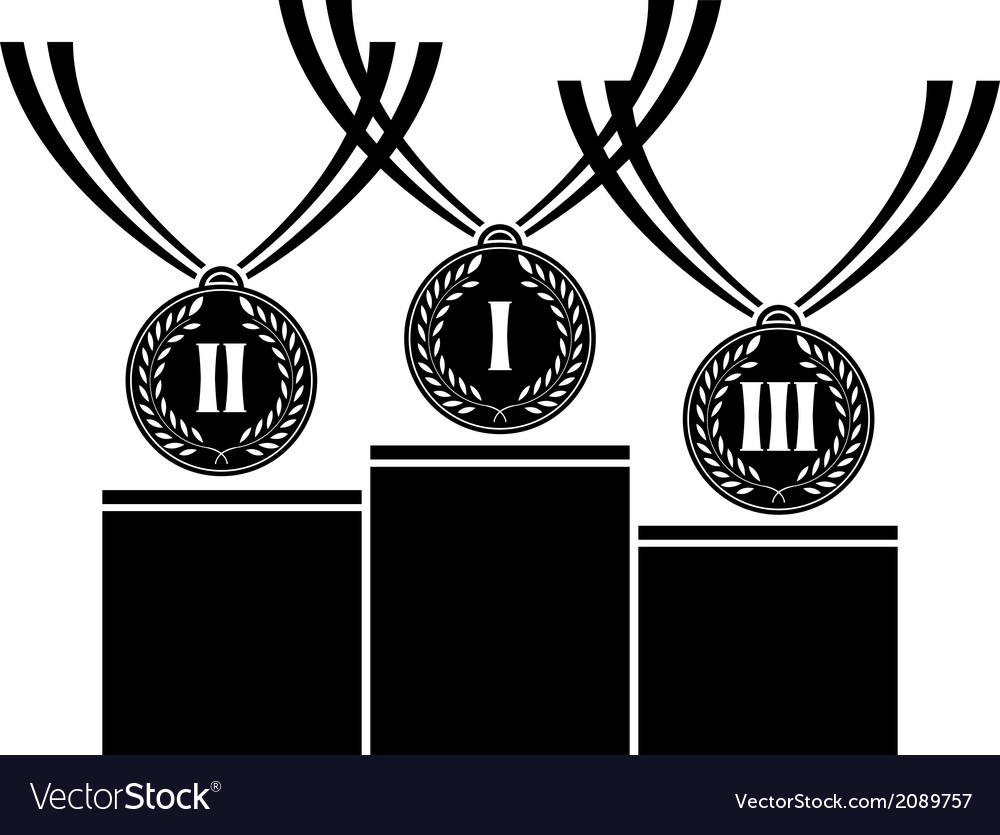 Pedestal with medals vector | Price: 1 Credit (USD $1)