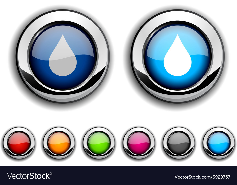 Rain button vector | Price: 1 Credit (USD $1)