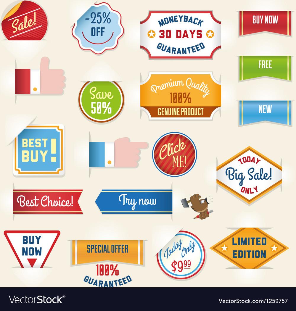 Sale labels set2 vector | Price: 3 Credit (USD $3)