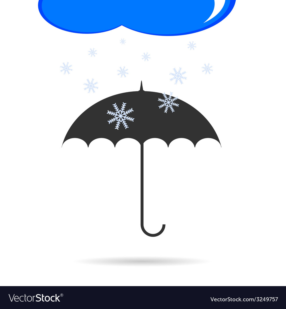 Umbrella with snow color vector | Price: 1 Credit (USD $1)