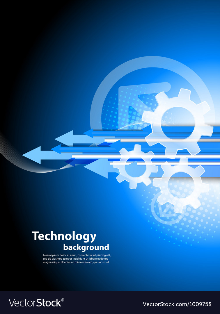 Background with arrows and gears vector | Price: 1 Credit (USD $1)