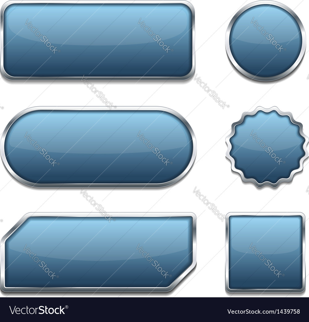 Blue web buttons vector | Price: 1 Credit (USD $1)