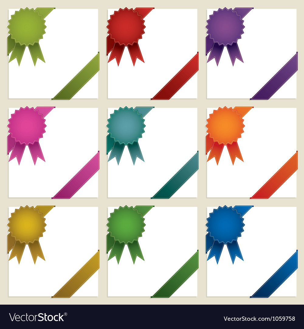 Corner rosette ribbons vector | Price: 1 Credit (USD $1)