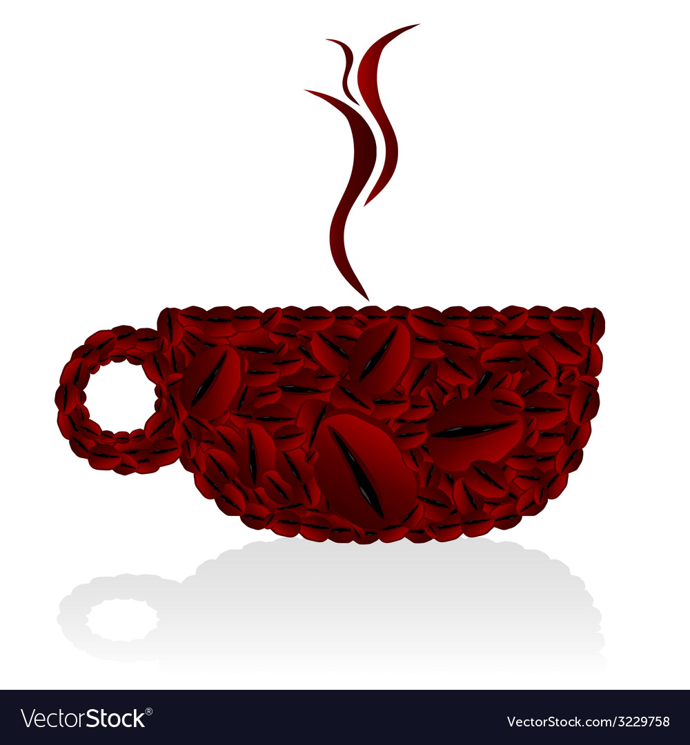 Cups of coffee bean vector | Price: 1 Credit (USD $1)