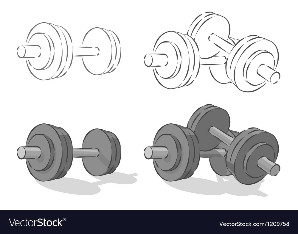 Dumbbells vector