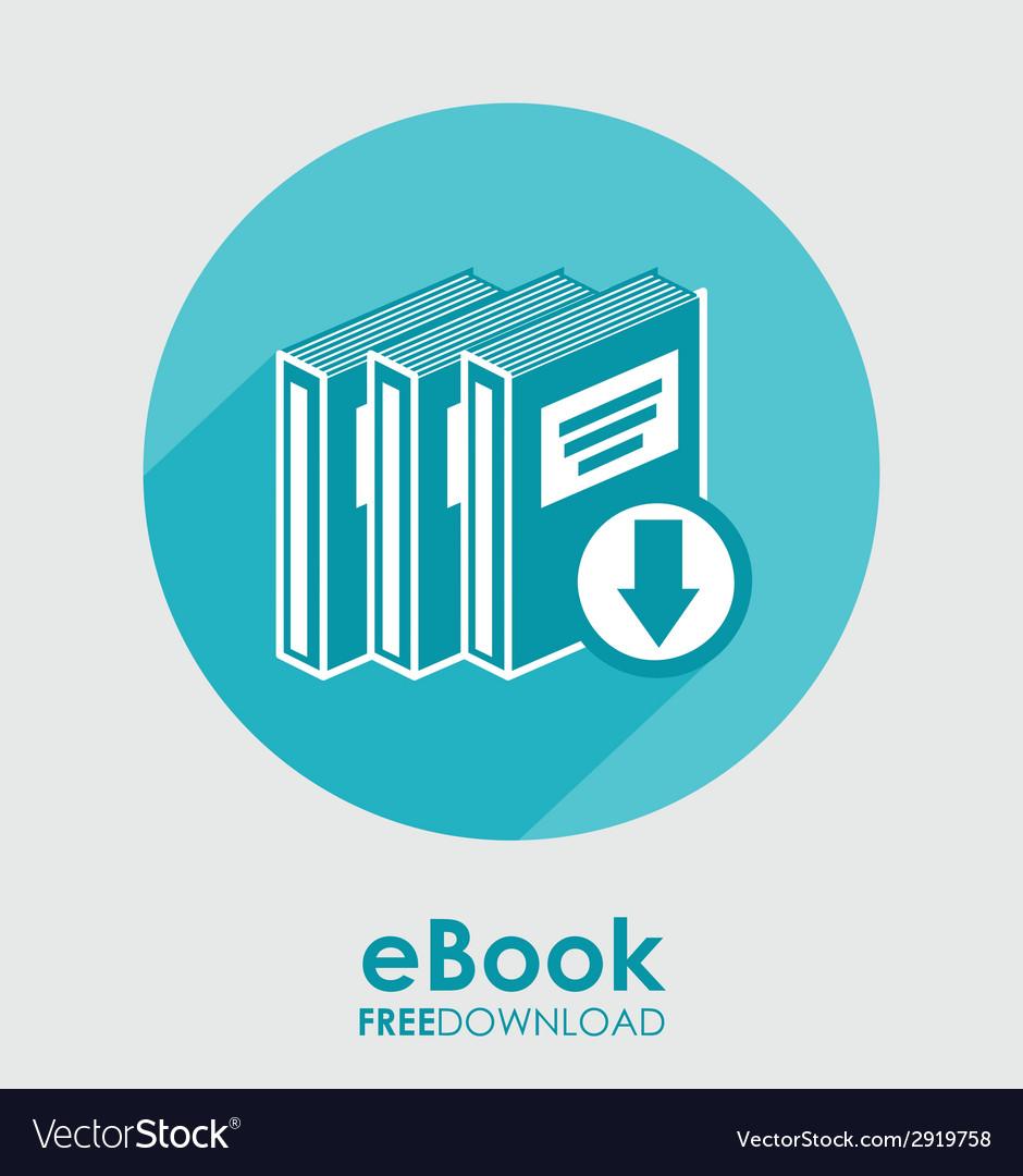 Ebook icon vector | Price: 1 Credit (USD $1)