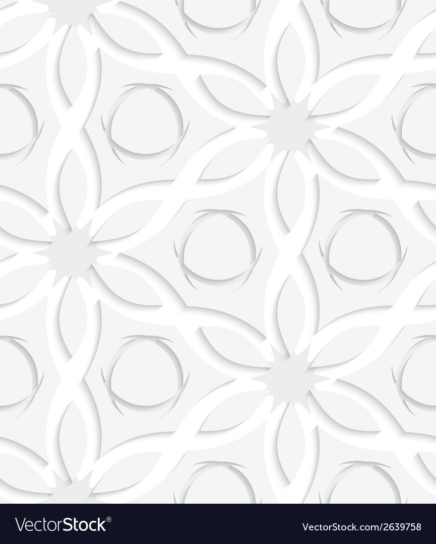 Floristic gray and white seamless vector | Price: 1 Credit (USD $1)