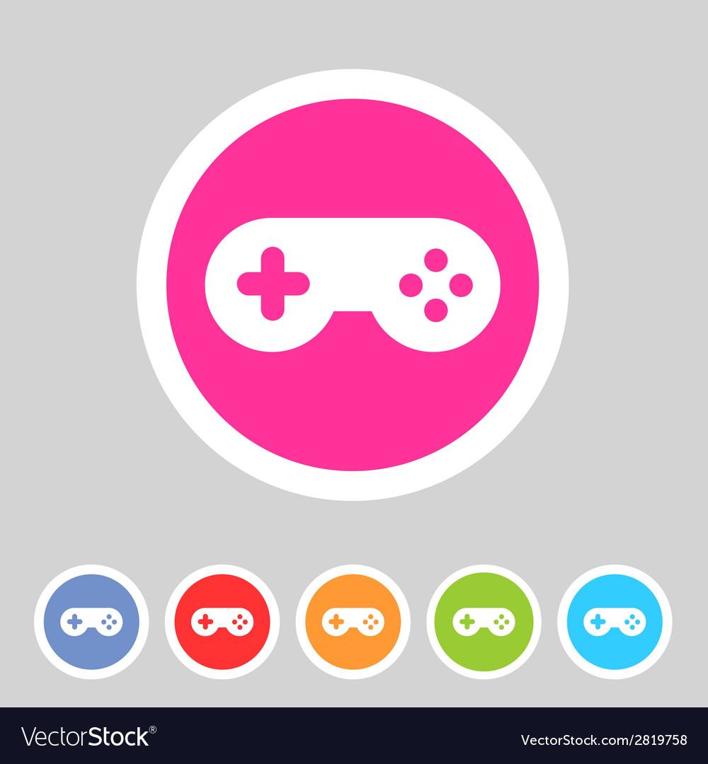Game joystick flst icon badge vector | Price: 1 Credit (USD $1)