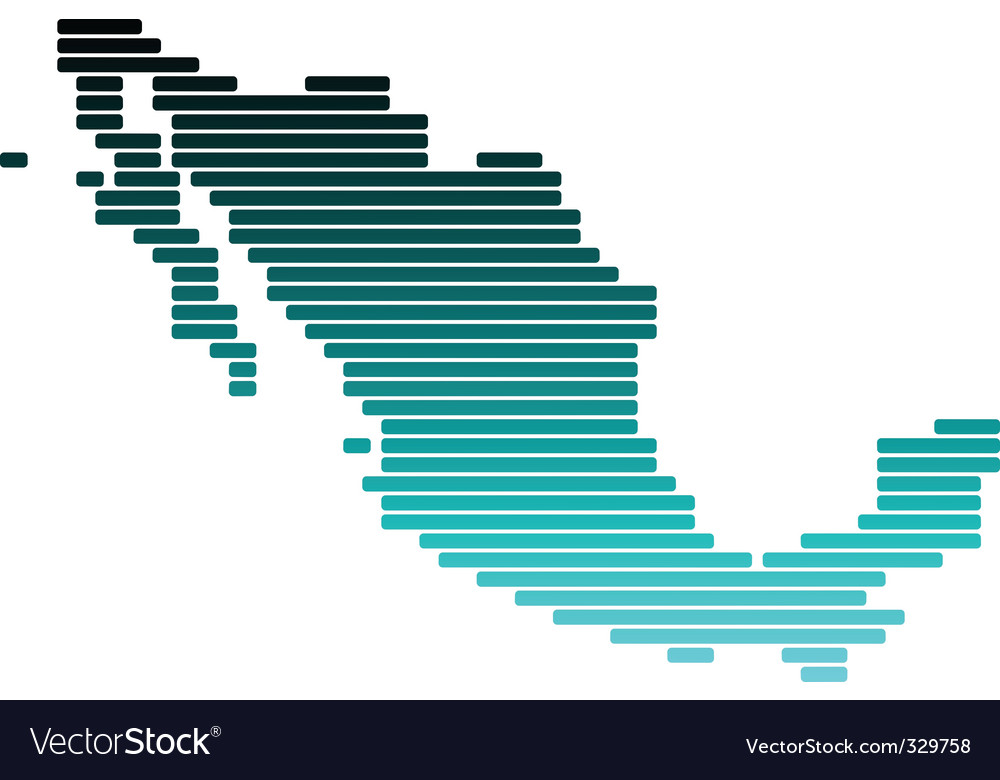 Map of mexico vector | Price: 1 Credit (USD $1)