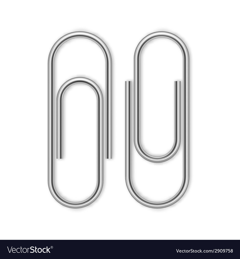 Paper clip isolated on white vector | Price: 1 Credit (USD $1)