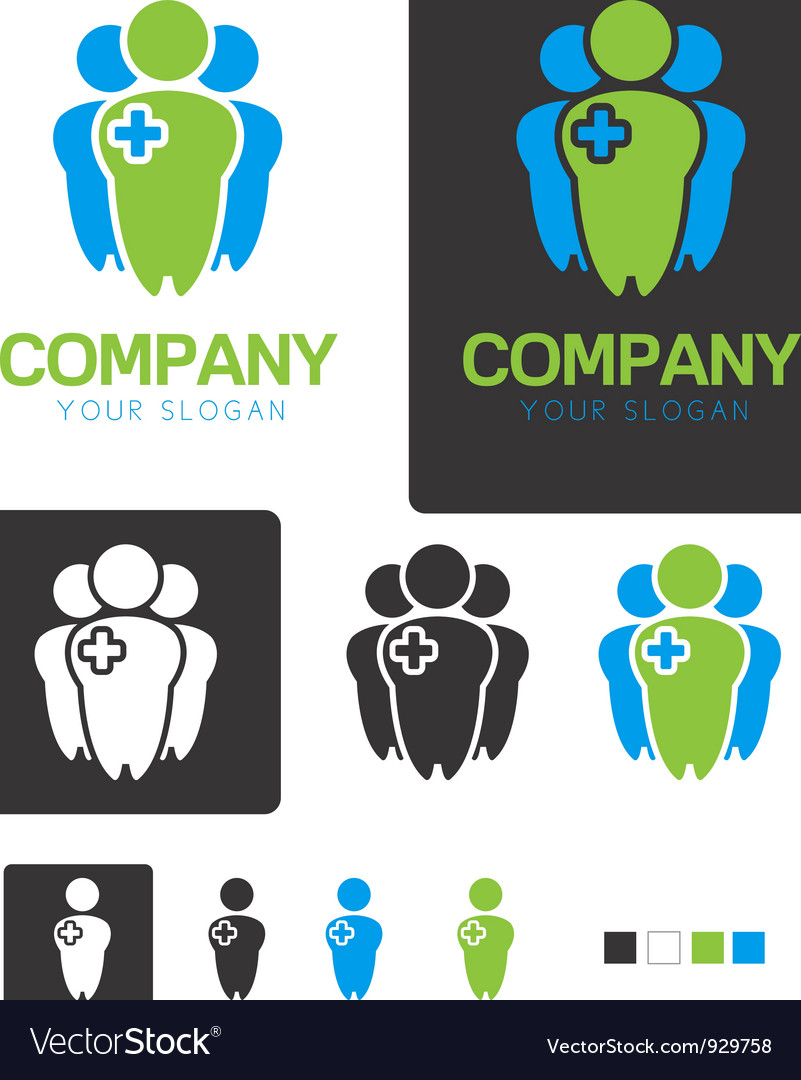 Social health company identity logo template vector | Price: 1 Credit (USD $1)