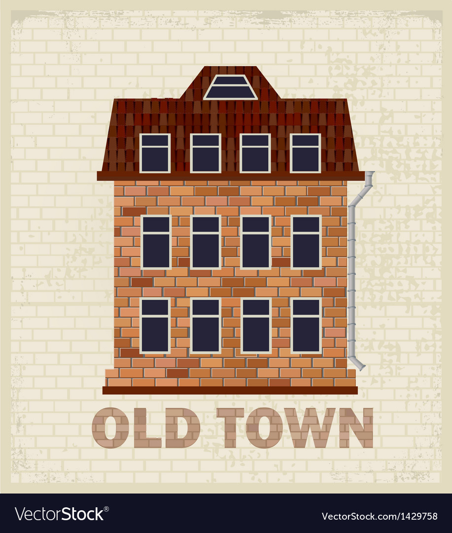 Town house vector | Price: 1 Credit (USD $1)