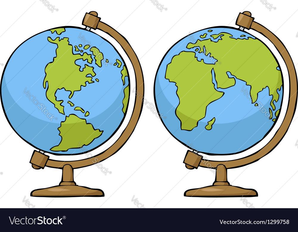 Two globe vector | Price: 1 Credit (USD $1)
