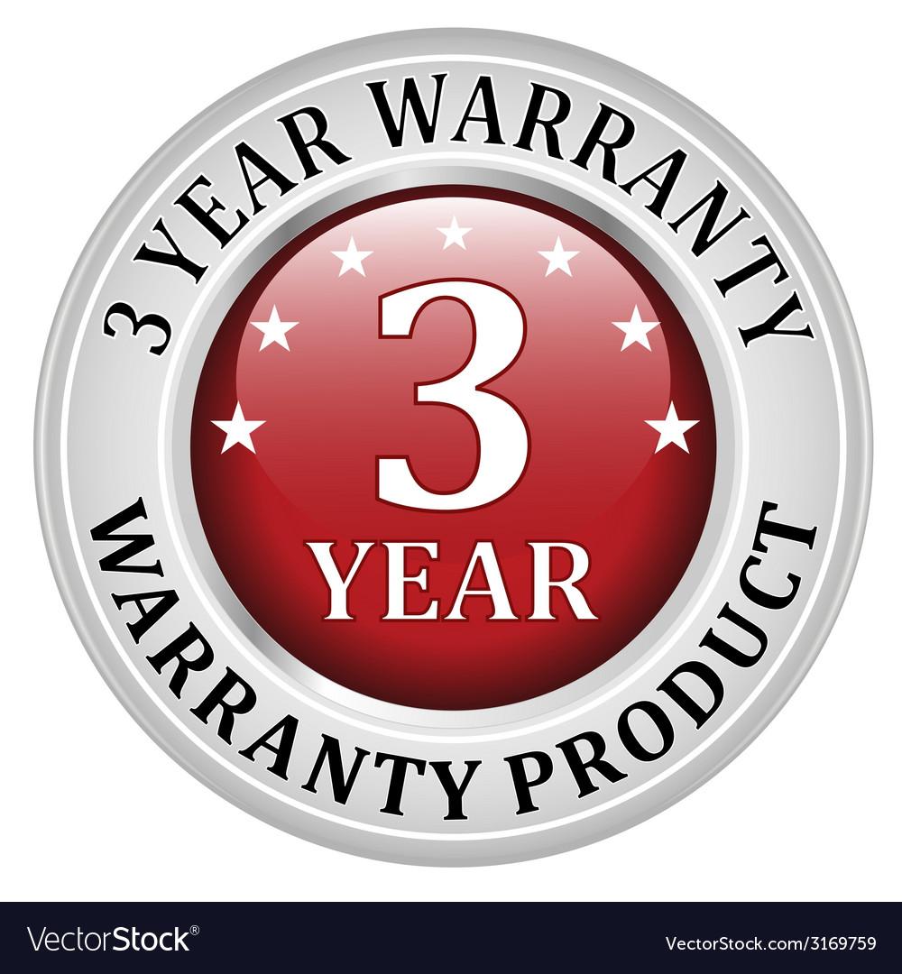3 years warranty vector | Price: 1 Credit (USD $1)