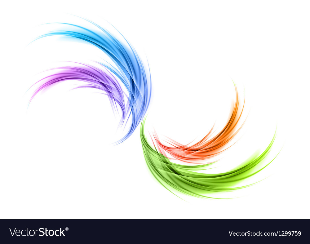 Abstract smoke rainbow vector | Price: 1 Credit (USD $1)