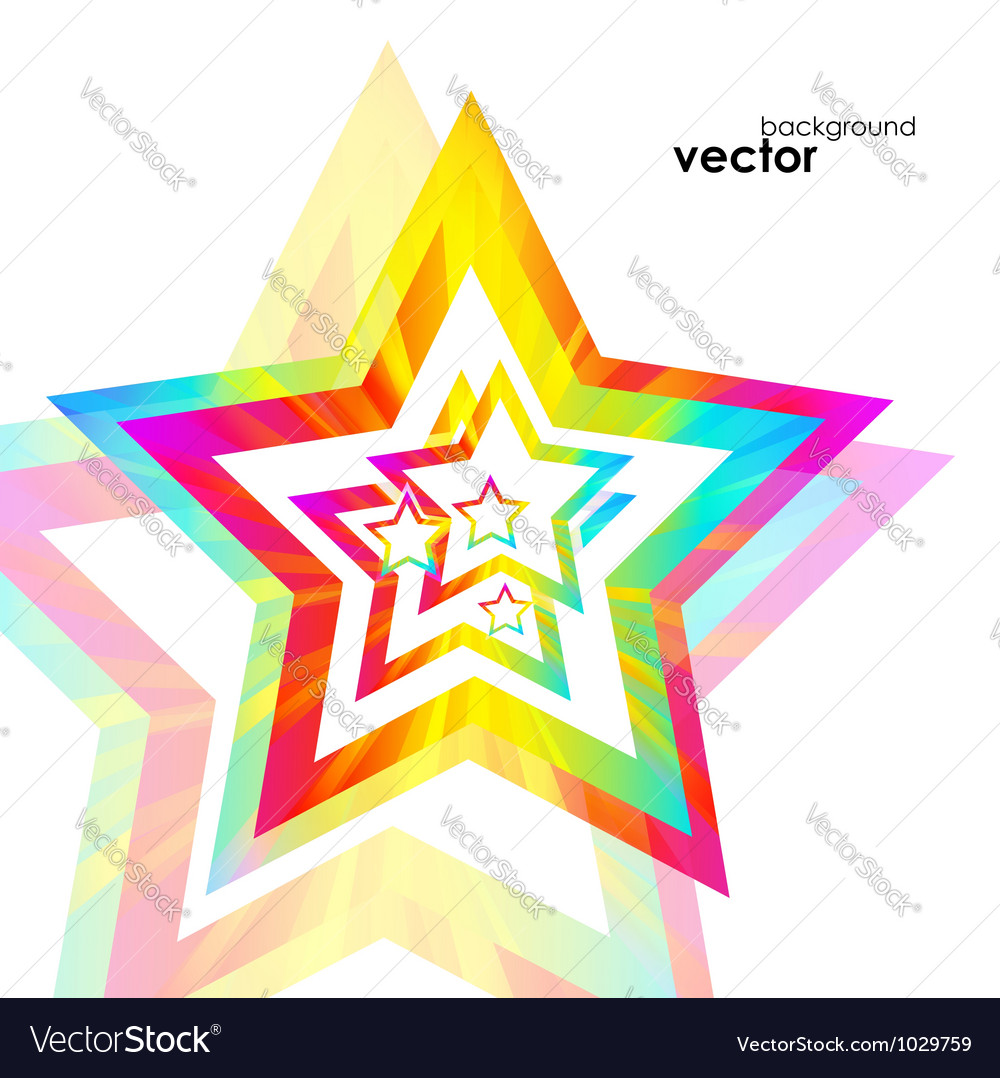 Abstract star background vector | Price: 1 Credit (USD $1)