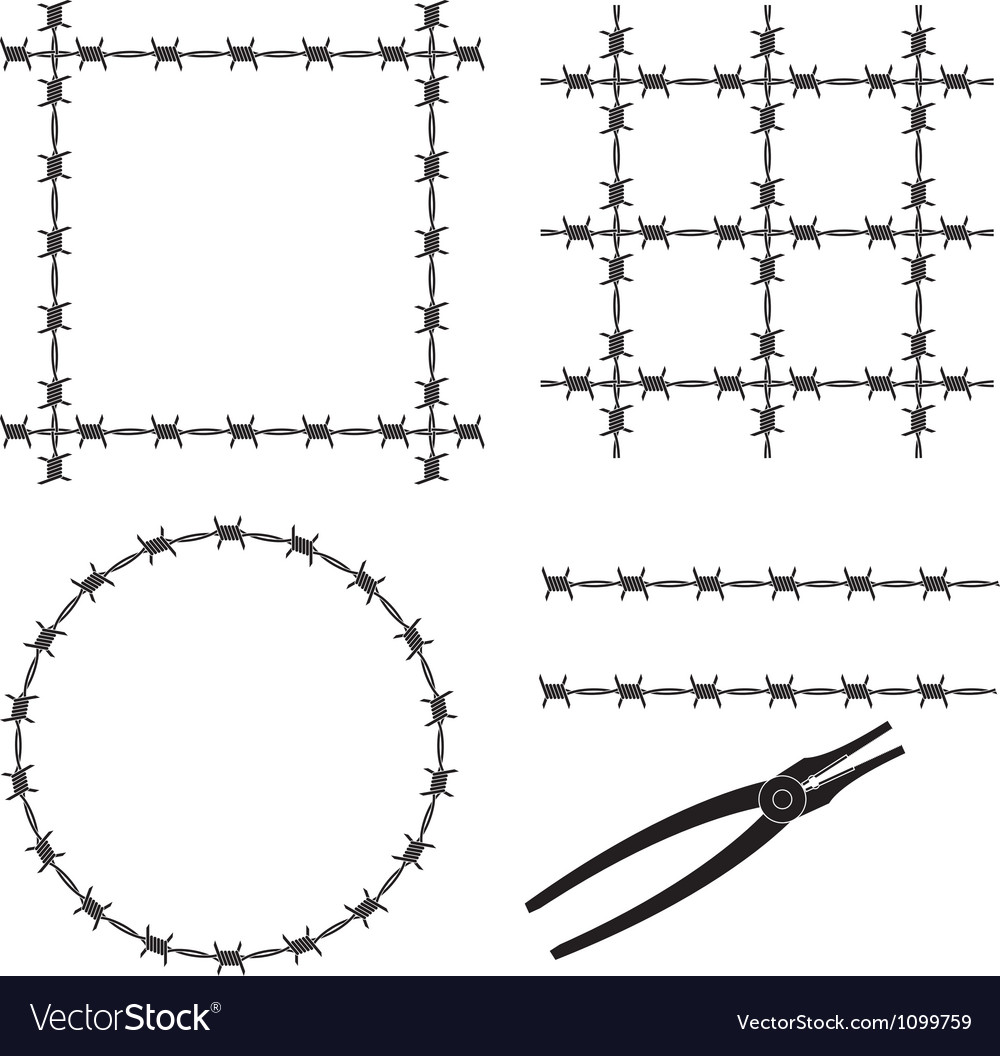 Barbed wire stencil vector | Price: 1 Credit (USD $1)