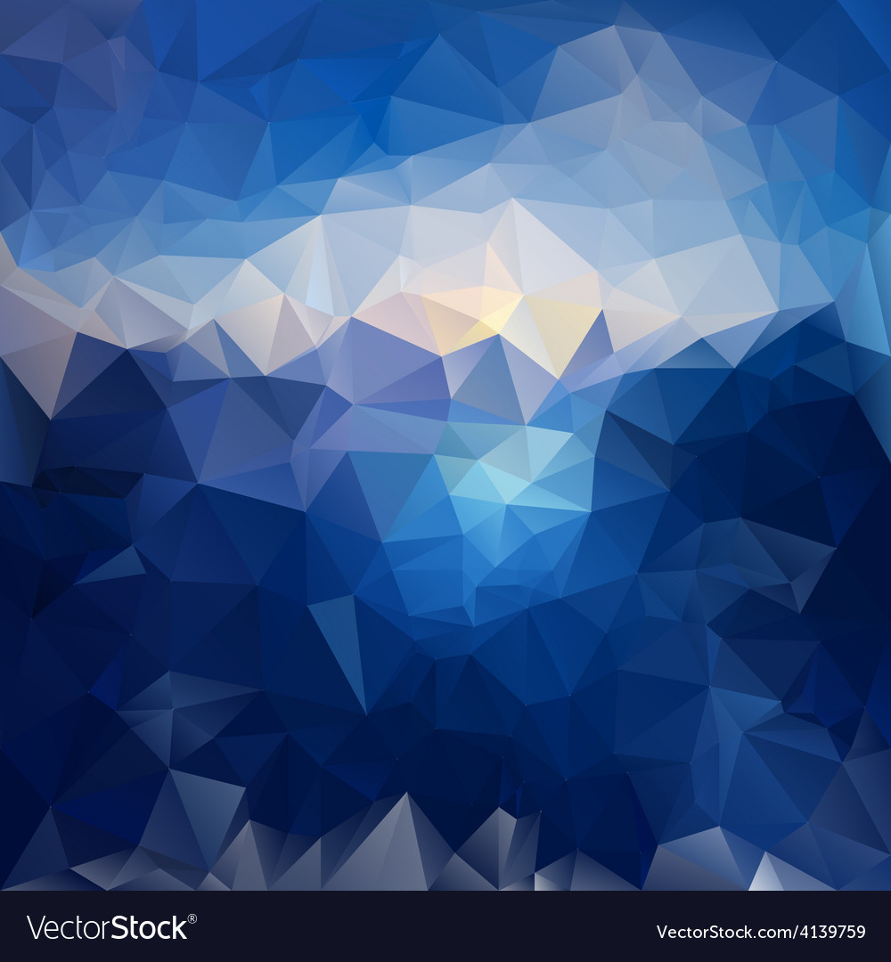Blue sky sea polygonal triangular pattern vector | Price: 1 Credit (USD $1)