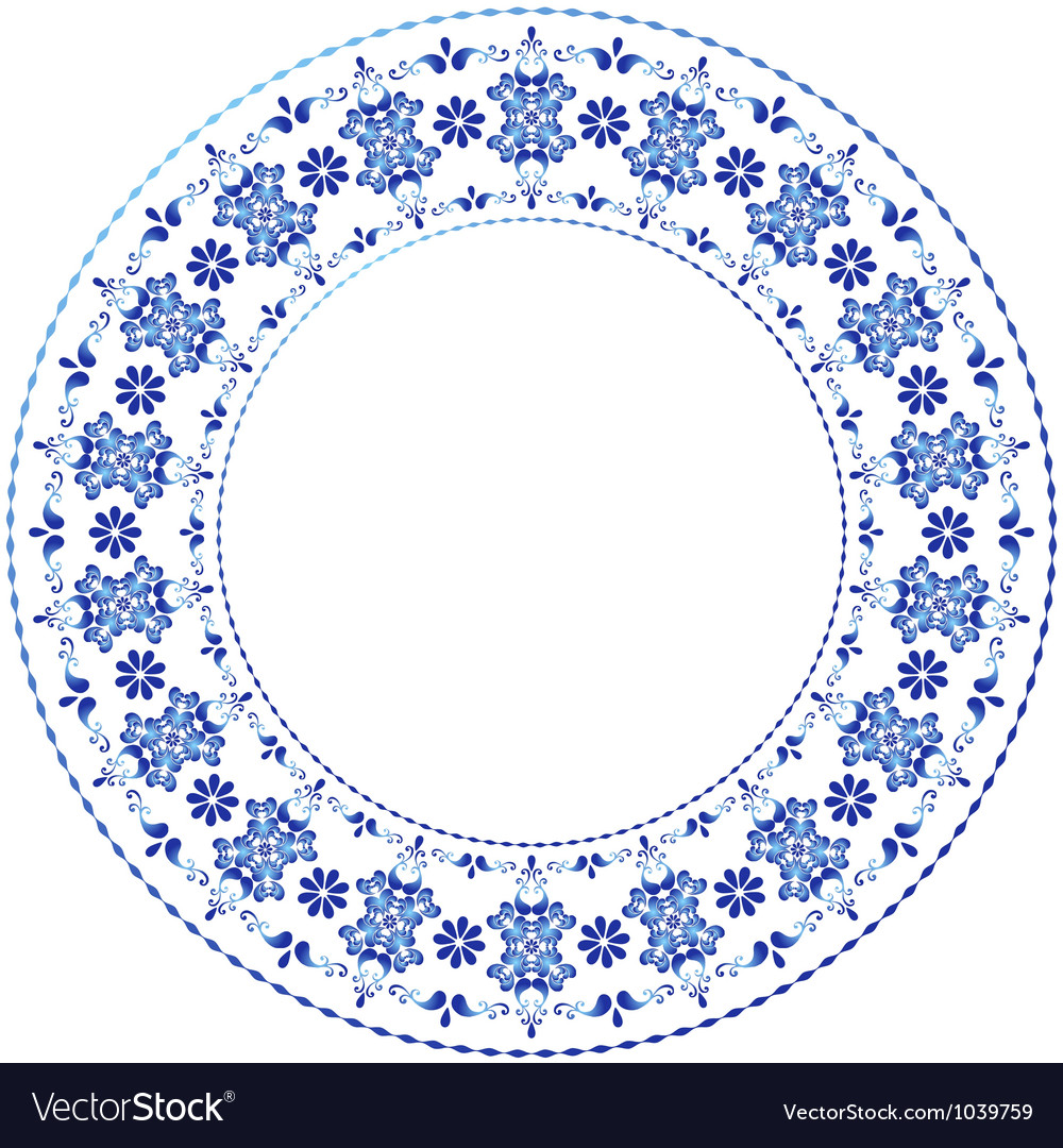 Decorative gzhel frame vector | Price: 1 Credit (USD $1)