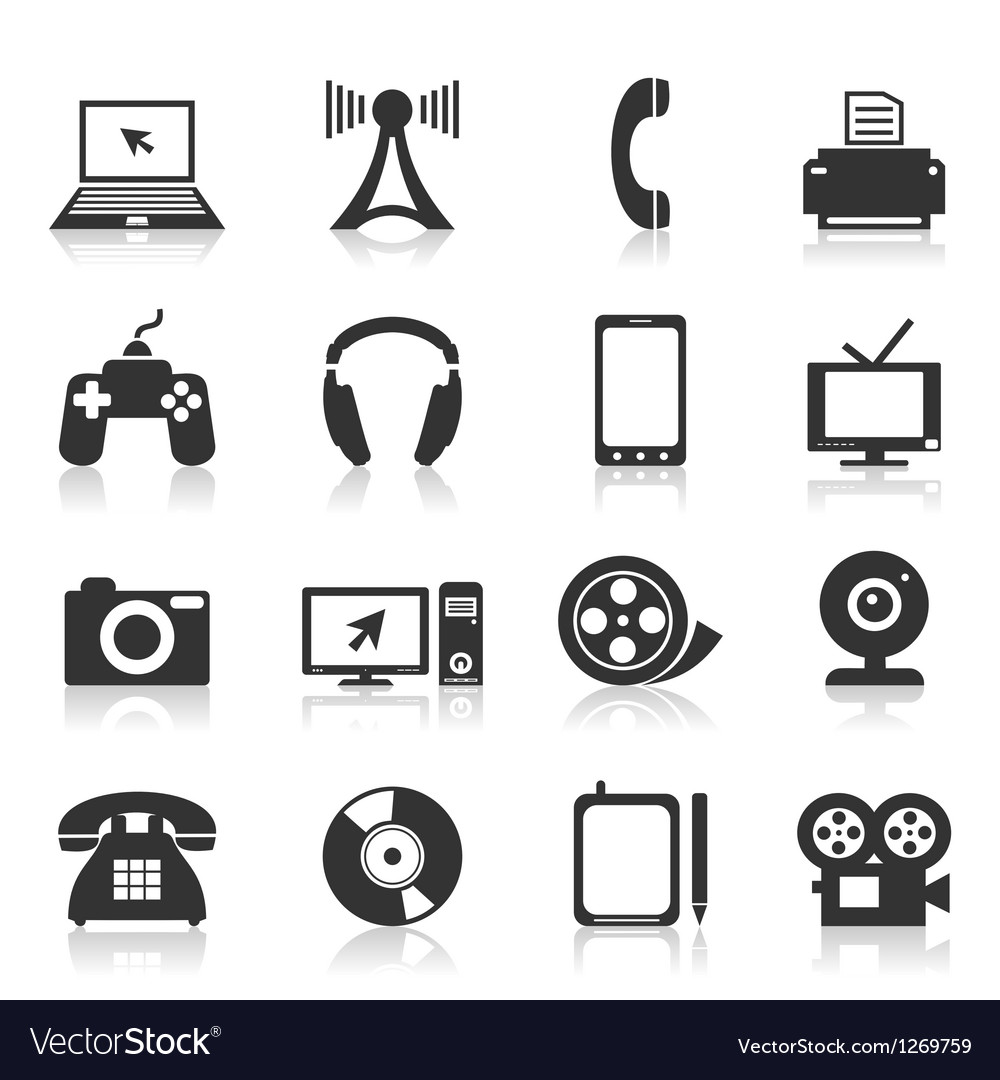 Electronics icons vector | Price: 1 Credit (USD $1)