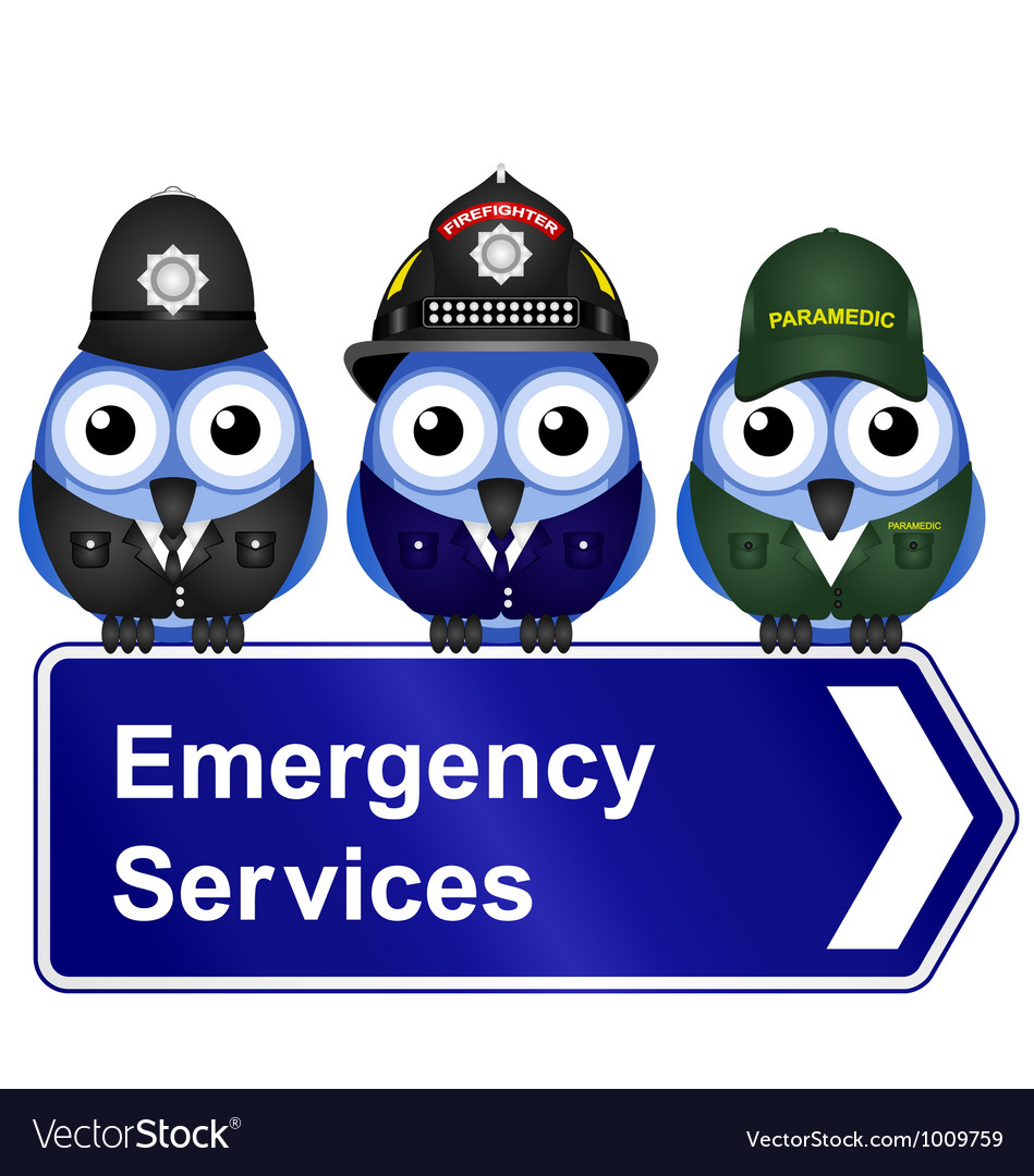Emergency services sign vector | Price: 1 Credit (USD $1)