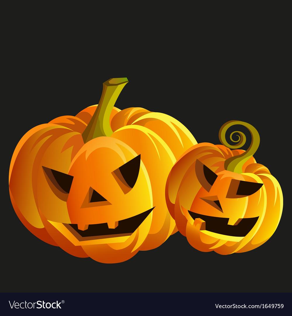 Funny halloween pumpkins vector   Price: 1 Credit (USD $1)