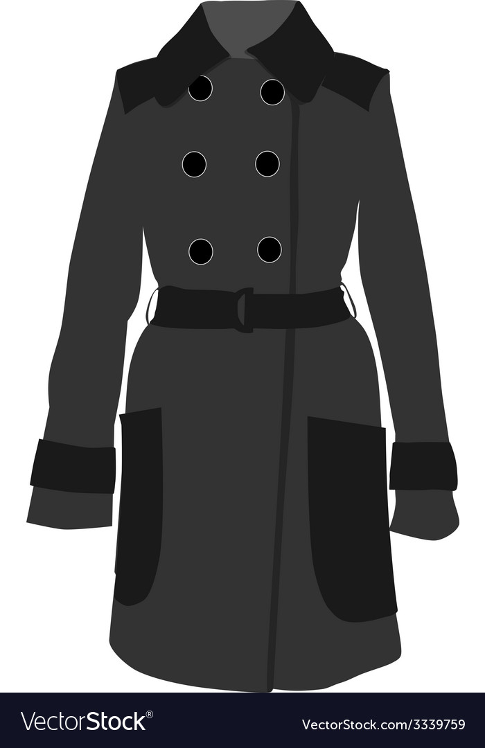 Grey coat vector | Price: 1 Credit (USD $1)