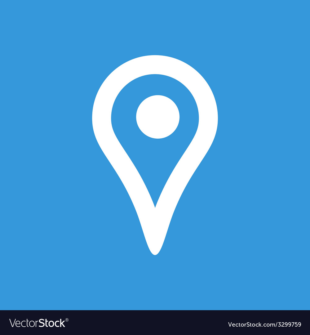 Map pointer flat icon vector | Price: 1 Credit (USD $1)
