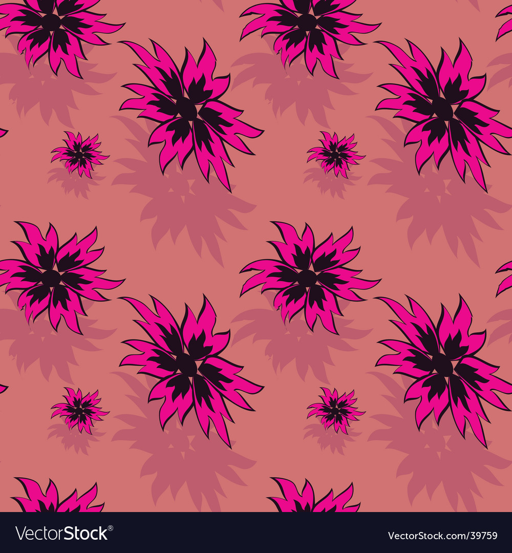 Seamless background with red flowers vector | Price: 1 Credit (USD $1)