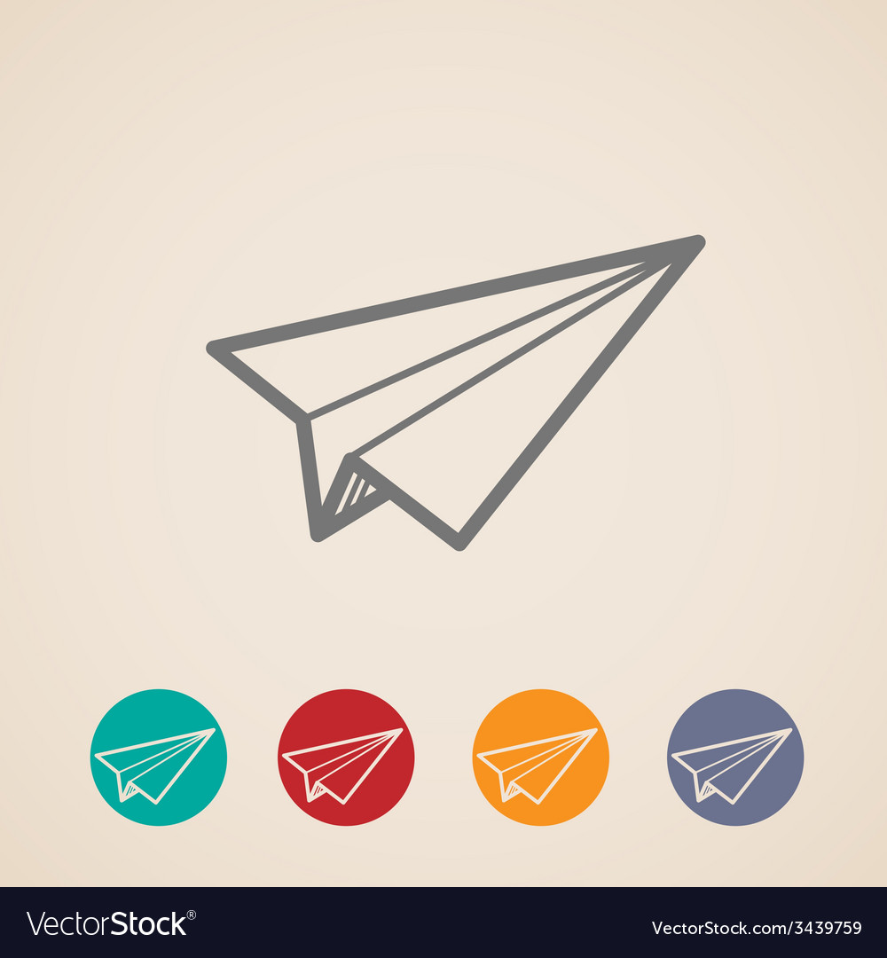 Set of paper plane icons vector | Price: 1 Credit (USD $1)