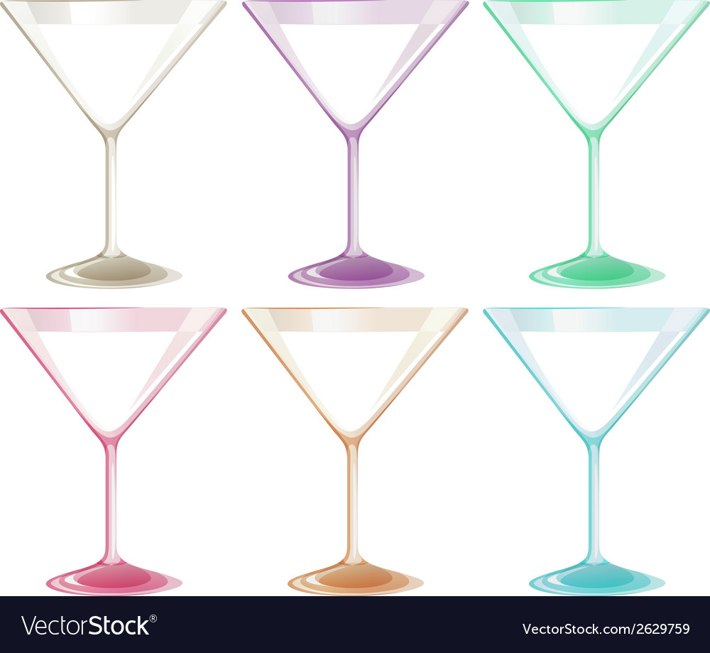 Set of wineglasses vector | Price: 1 Credit (USD $1)