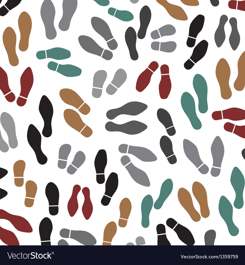 Shoes silhouette seamless background vector | Price: 1 Credit (USD $1)