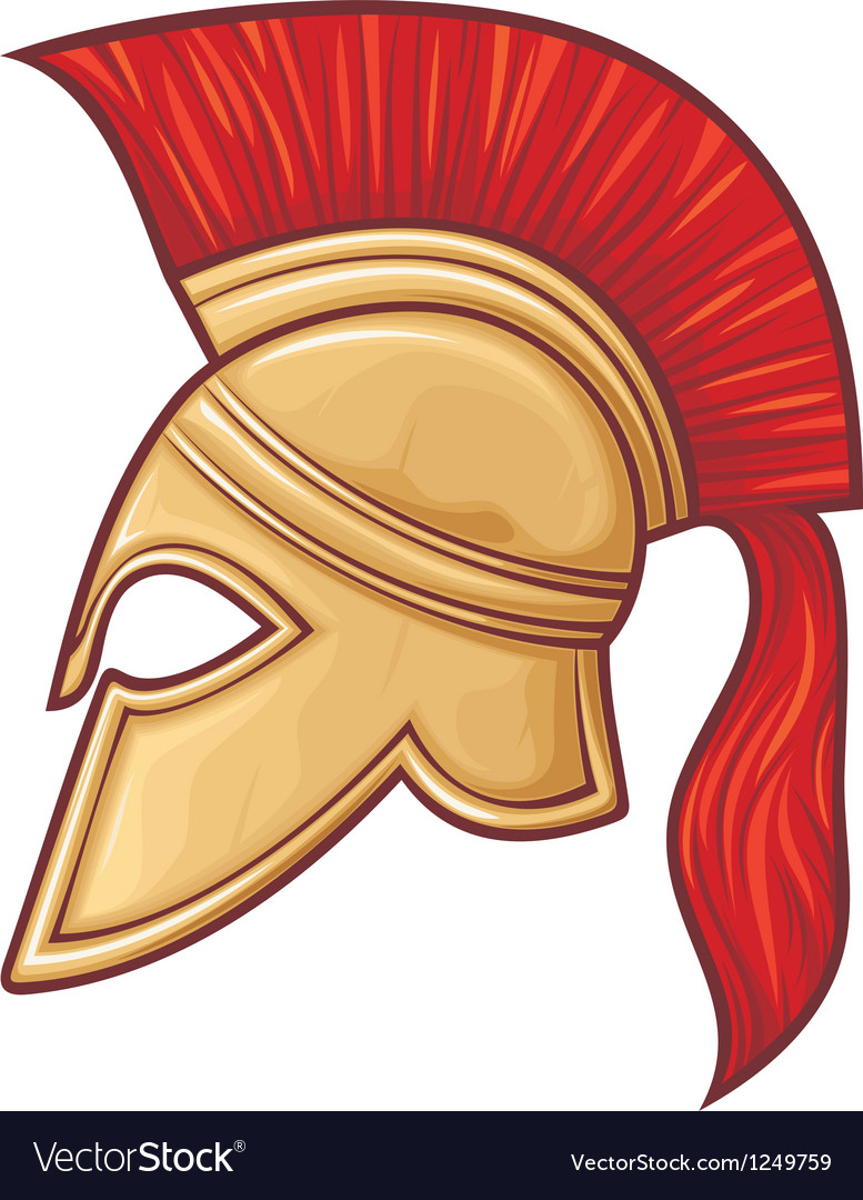 Spartan helmet vector | Price: 1 Credit (USD $1)