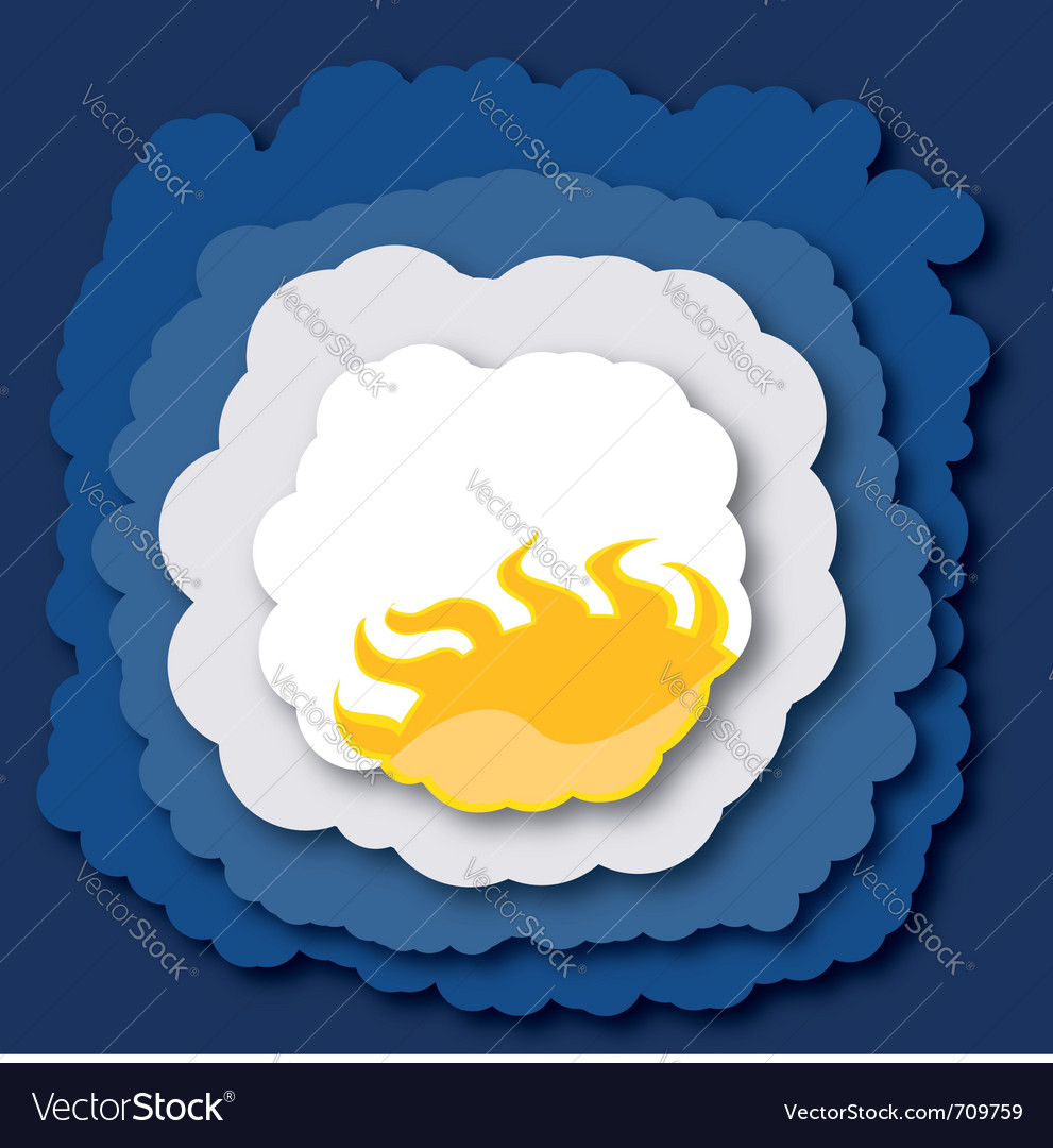 Summer clouds vector | Price: 1 Credit (USD $1)