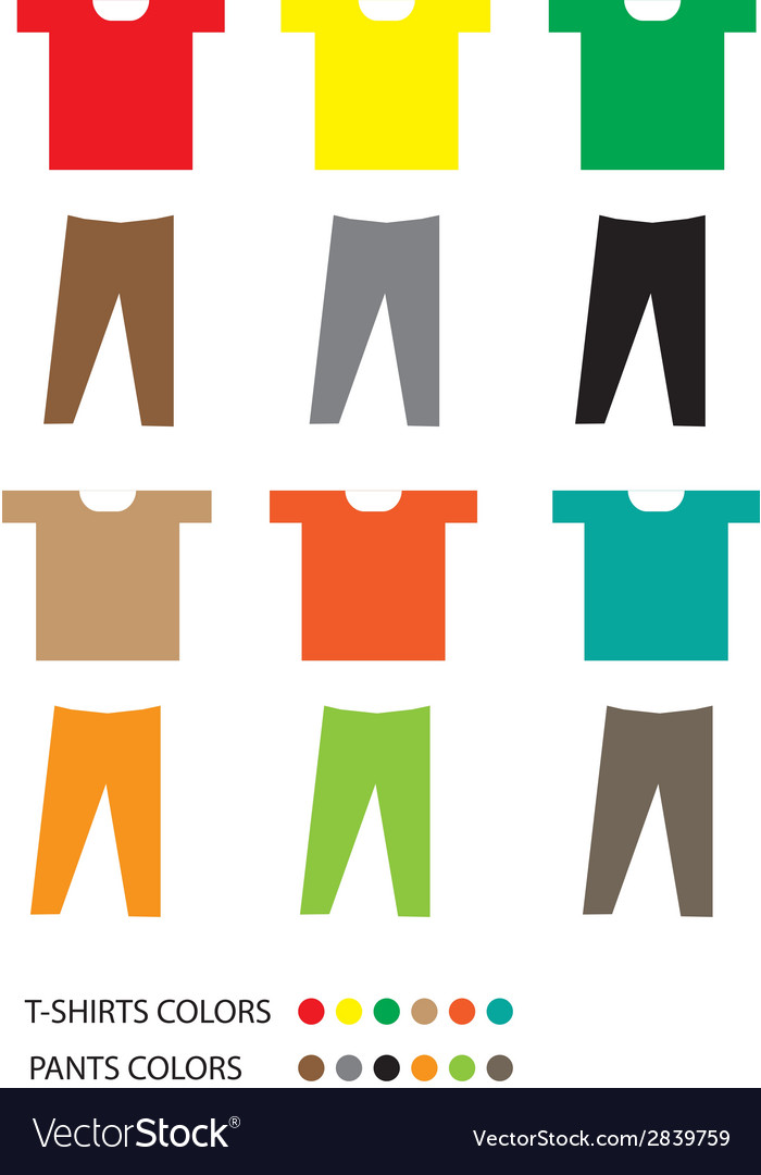 T shirts and pants vector | Price: 1 Credit (USD $1)