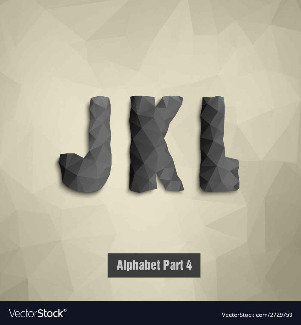 Triangular dark alphabet j k l vector | Price: 1 Credit (USD $1)